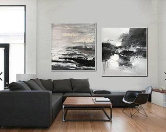 Abstract Painting Large Oil Painting Minimalist By Heidiguldanaart In 2020 Blue Abstract Wall Art Large Canvas Wall Art Black And White Abstract