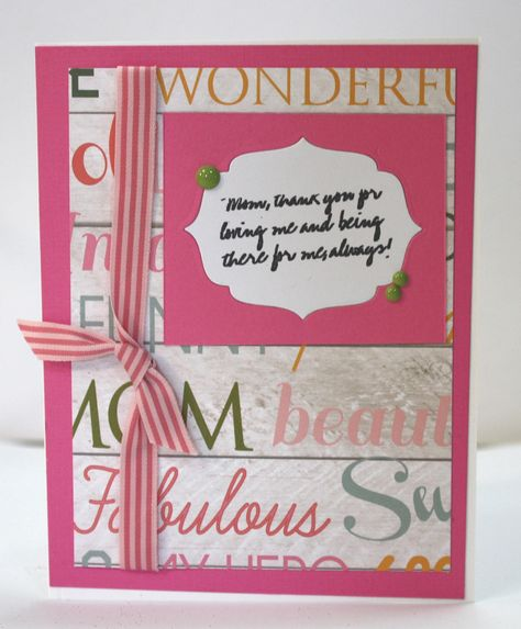 Elegant Sweet Mother S Day Mom S Love Card Sentiments Inside And