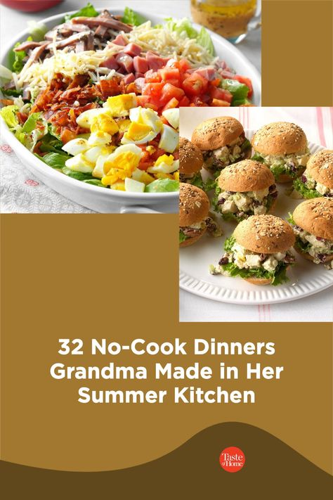 Enjoy those lazy days of summer with these cool, vintage recipes. We have old-fashioned ideas for salads, sandwiches and more.