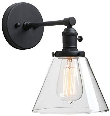 Phansthy Black Industrial Wall Sconce Light Single Light Wall Lamp