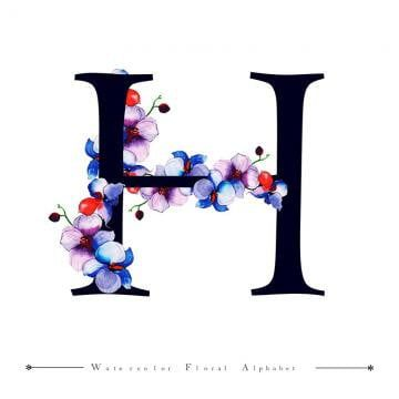 C Alphabet Letter Watercolor Floral Background Watercolor Color Floral Png And Vector With Transparent Background For Free Download In 2020 Lettering Alphabet Floral Background H Alphabet