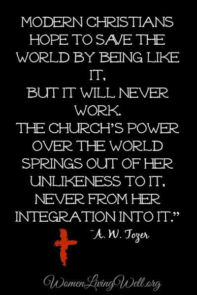 A W Tozer quote. Links to an article on why women are not supposed to be pastors/elders, simply by observing scripture. Really good!