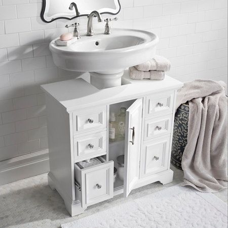 Pedestal Sink Cabinet With Wood Top Pedestal Sink Storage Bathroom Sink Storage Sink Storage