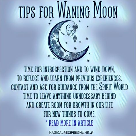 Experience the Waning Moon like never before. Read about Moon Magic…
