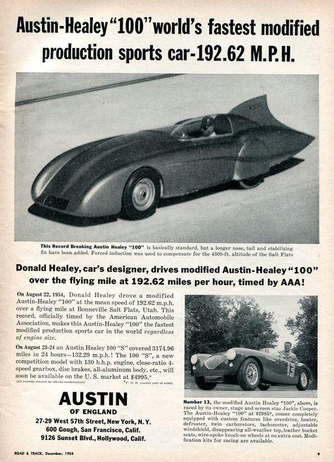 1954 Austin-Healey 100 Advertisement Road & Track December… | Flickr