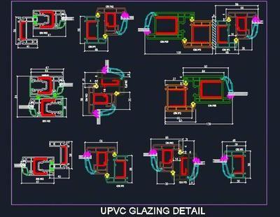 Upvc Door Window Frame Profile Sections Detail In 2020 Metal Doors Design Windows And Doors Upvc