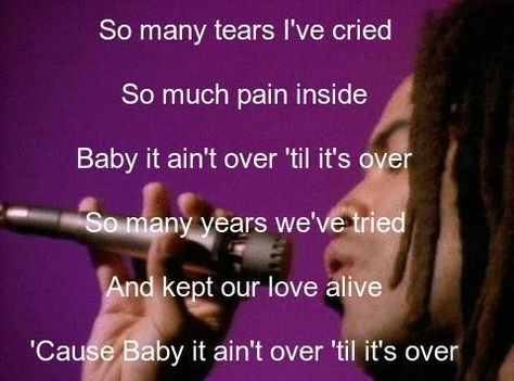 Lenny Kravitz It Aint Over Til Its Over Canciones Y