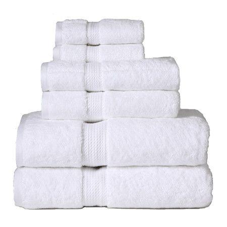 Showcasing A Crisp White Hue This Luxe Egyptian Cotton Towel Set