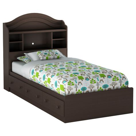 South Shore Summer Breeze Bookcase Bedroom Collection Size Twin