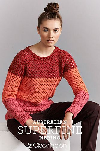 Ravelry: Colour Block Jumper #423 pattern by Cleckheaton