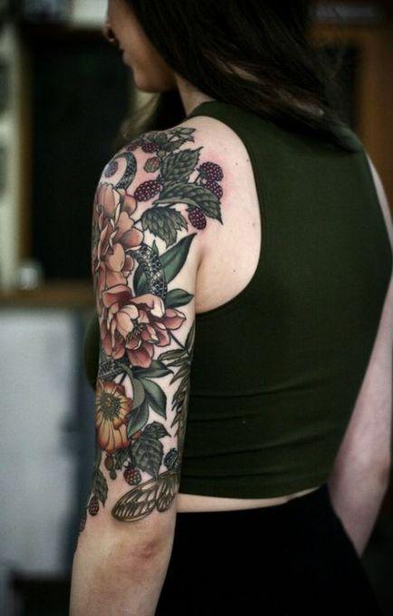 Trendy Garden Flower Tattoo Colour Ideas Nature Tattoo Sleeve Tattoos For Women Half Sleeve Floral Tattoo Sleeve