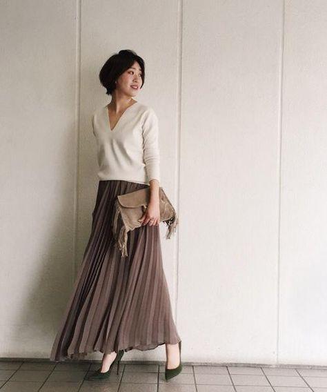 大人っぽく上品に♡おすすめの人気モテ ロングスカートのトレンド一覧です♡
