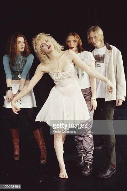 American rock group Hole circa 1995 Left to right bassist Melissa Auf der Maur singer Courtney Love drummer Patty Schemel and guitarist Eric Erlandson