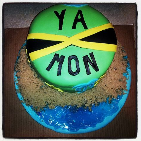 Surprising Jamaican Themed Birthday Cake With Images Jamaican Party Funny Birthday Cards Online Overcheapnameinfo