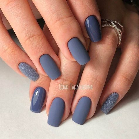 All occasion nails, Cold nails, December nails, Everyday nails, Matte nails, Matte nails with glossy pattern