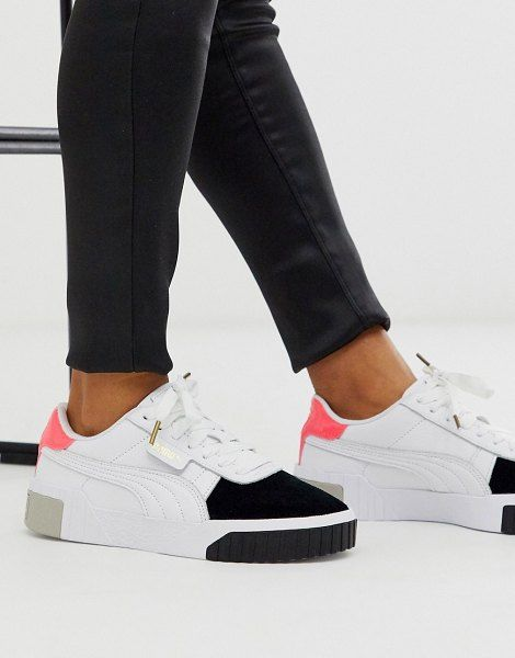 Puma Cali Remix White Color Block Sneakers | Zapatos ...