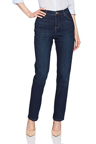 LEE Women/'s Tall Instantly Slims Classic Relaxed Fit Monroe Straight Leg Jean