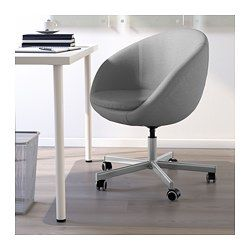 Skruvsta Krzeslo Obrotowe Vissle Szary Dodaj Do Koszyka Ikea Chaises Pivotantes Chaise Bureau Ikea Chambre Ado Moderne