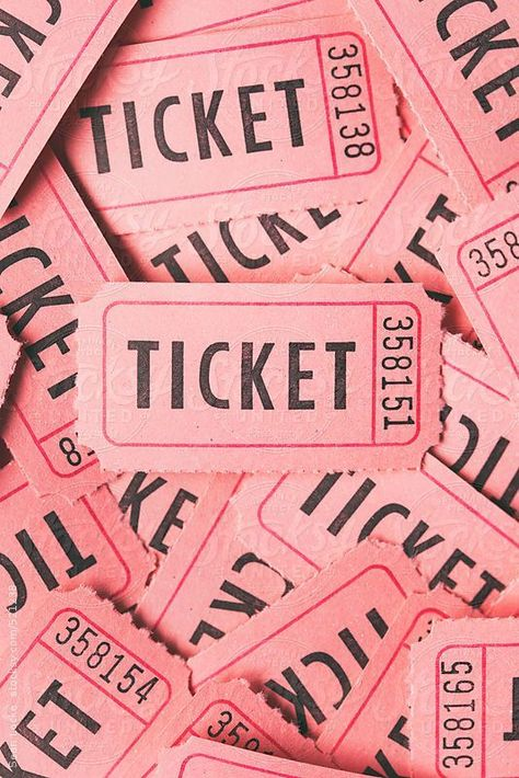 Paper tickets, either in strips or ripped apart is part of Pastel pink aesthetic -