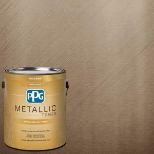 Ppg Metallic Tones 1 Gal Mtl134 Bronzed Ginger Metallic Interior Specialty Finish Paint Mtl134 01 The Home Depot Metallic Paint Walls Metallic Gold Paint Gold Paint Colors