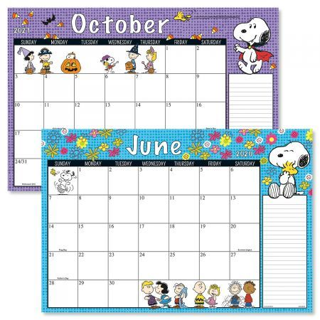 Peanuts 2020 Square Family Wall Calendar with Reminder Stickers NEW