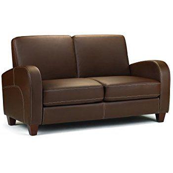 Julian Bowen Vivo Sofa Faux Leather Brown 2 Seater Amazon Co Uk Kitchen Home Faux Leather Sofa