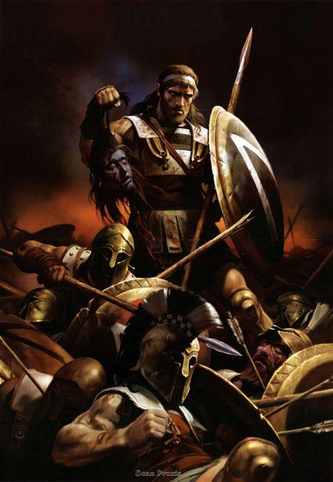 The Battle of Thermopyle, 480 BC ~ Nicolai Zubkov