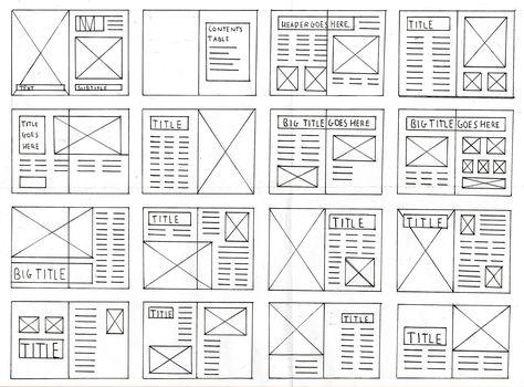 Magazine Layout and Grid Thumbnails Template, Magazines and Layouts - magazine storyboard