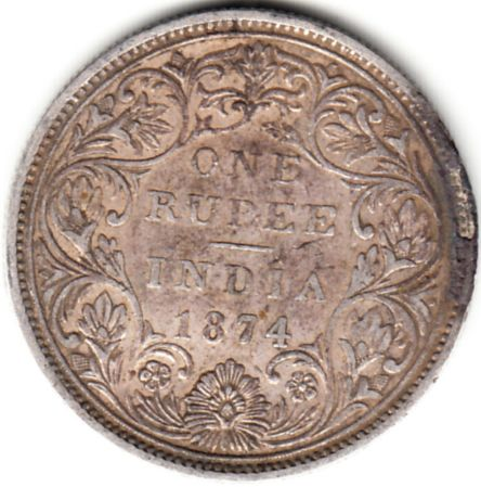 British India 1874 One Rupee Victoria Queen Bombay Mint Rare Date Silver Coin 1 In 2020 Buy Coins Silver Coins Commemorative Coins