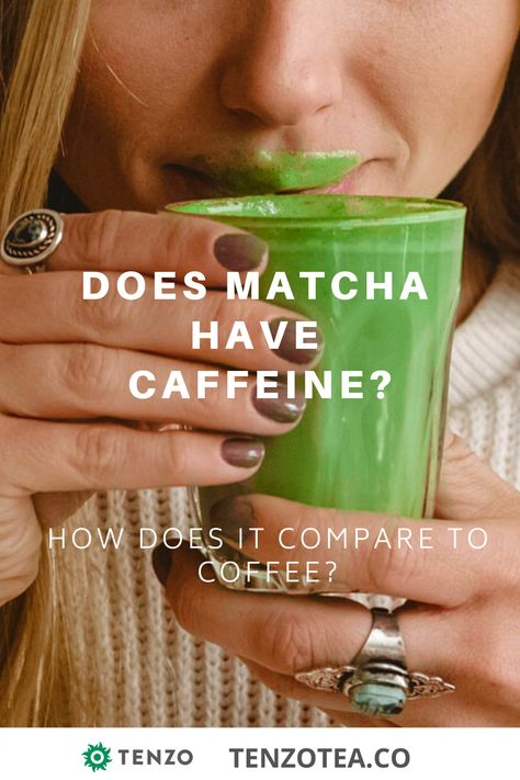 Learn how the caffeine in matcha green tea compares to coffee.   #matcha #matchalatte #matchaaddict #greentea #latte #iceddrinks #energy #energydrink #health #healthymoms #fitmoms #fitness #energy #focus #workout #yoga #zen #fitmoms #veganmom #vegan #superfood #adaptogens #yummydrinks #workingmom #stayathomemom #meditation #mindfulness #plantbased #healthydrinks #caffeine #coffeesubstitute