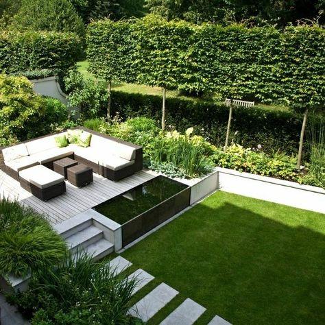 Wohnideen, Interior Design, Einrichtungsideen \ Bilder - terrassengestaltung mit wasserbecken