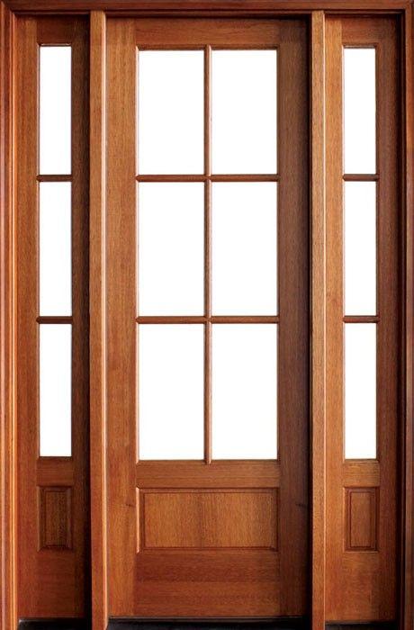 Mahogany Alexandria Tdl 6 Lite Single Door 2sidelite Single Doors Mahogany Entry Doors Single French Door