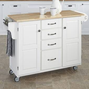 Adelle A Cart Kitchen Island With Granite Top In 2020 Kitchen Island With Granite Top Kitchen Cabinets And Countertops Traditional Kitchen Island