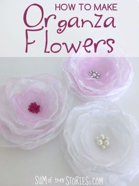 These 20 Easy Fabric Flower Tutorials will get you creating for weddings, home decor, and more! Click here for all of the tutorials! ?#thecraftyblogstalker#fabricflowers#diyfabricflower #easyfabricflowers
