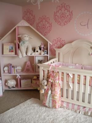 My inspiration for Ainsley's Whimsical and Elegant Dreamland Nursery came from a bedding set I found, and absolutely fell in love with. The bedding was