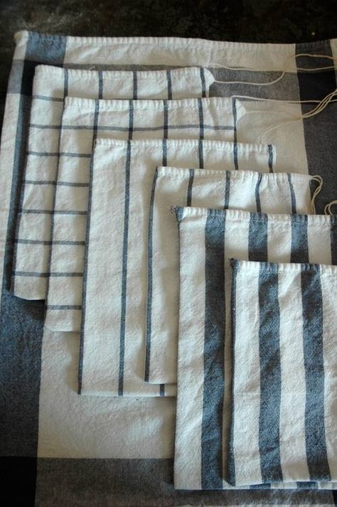 Easy & Green DIY: Sew Produce Bags From Tea Towels