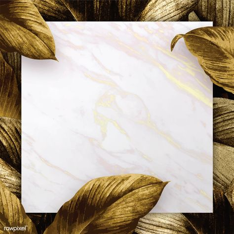 White marble patterned paper on tropical leaves background vector | premium image by rawpixel.com / eyeeyeview