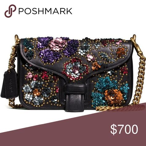 coach and rodarte courier bag with leather sequins
