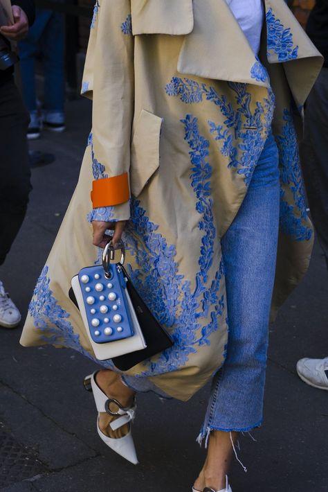 A guest seen during Milan Fashion Week Spring/Summer 2018 on September 2017 in Milan, Italy. (Photo by Nataliya Petrova/NurPhoto via Getty Images). ,Milan Fashion Week Best Street Style Looks for Spring Summer