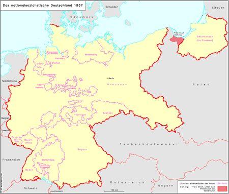 Ieg Maps Karte 041 Das Nationalsozialistische Deutschland 1937