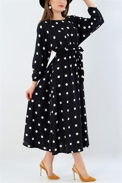 29032 Turkiye Nin En Hesapli Bayan Giyim Sitesi Modamizbir Com 2020 Puantiyeli Elbise Elbise Modelleri Elbise