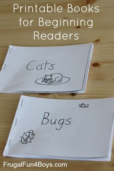 Free Printable Books for Beginning Readers - Level 1 (Easy ...