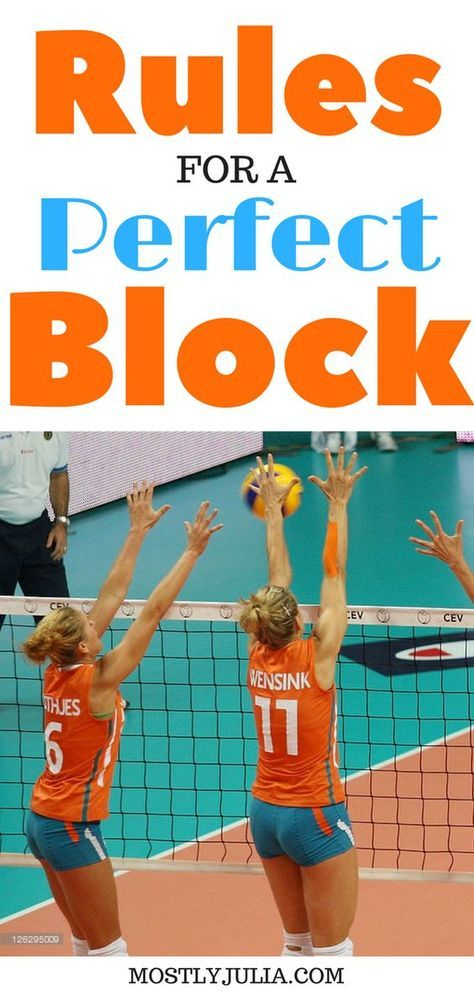 Rules For A Perfect Block The Volleyball Series Volleyball Kampfsport Ubungen