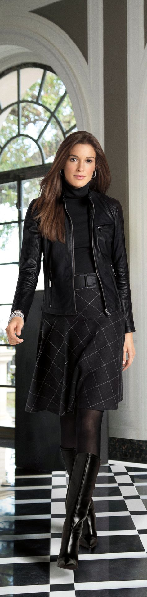 Update your look for fall with Lauren Ralph Lauren with sleek shades of black and grey