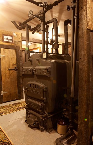 Old Basement Coal Boilers In 2020 Coal Furnace Hydronic Heating Systems Basement Guest Rooms