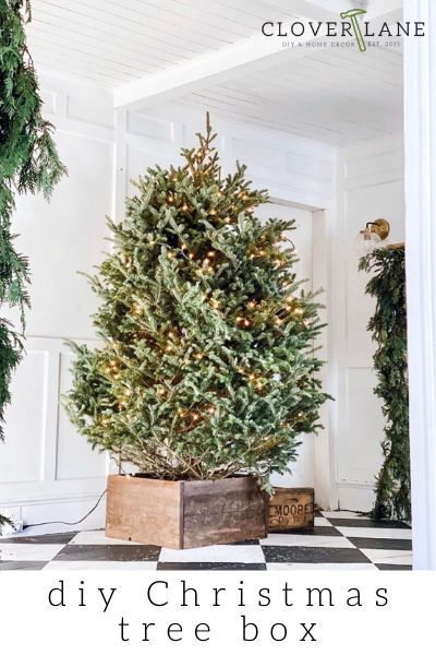 Build Your Own Diy Rustic Christmas Tree Box In 2020 Rustic Diy Rustic Christmas Tree Christmas Tree Box