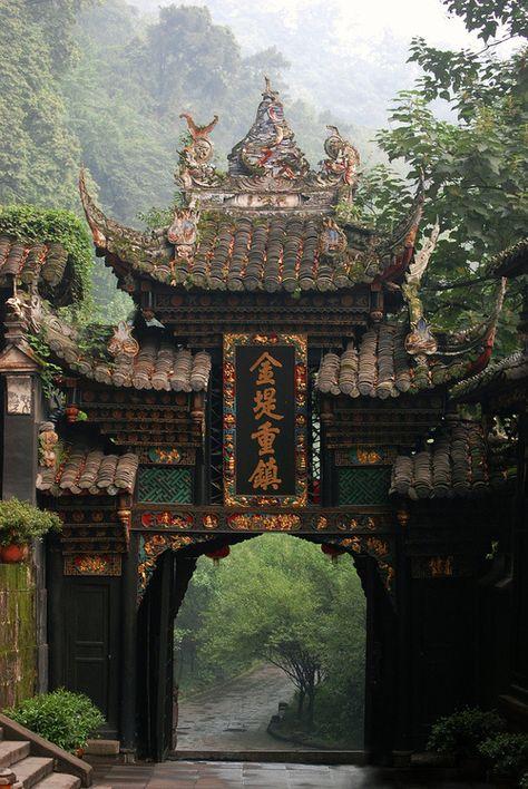 Entry gate, Chengdu, China.