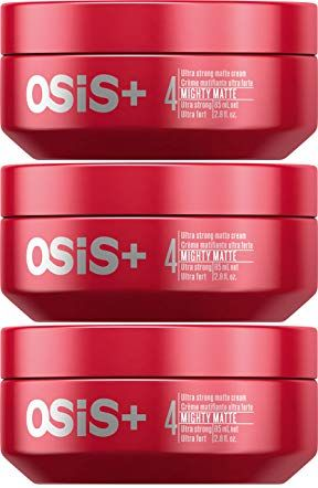 Osis Mighty Matte Ultra Strong Matte Cream 2 8 Ounce 3 Pack Review Matte Cream Hair Gel