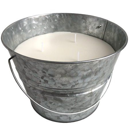 Mainstays Galvanized Bucket Outdoor Citronella Candle 30oz Image