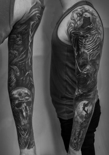 Dark Themed Tattoos : themed, tattoos, Gothic, Tattoo, Ideas, [2021, Inspiration, Guide], Tattoo,, Tattoos, Guys,